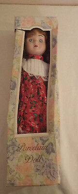 "Porcelain Doll Christmas China 16"" Tall New NIB"