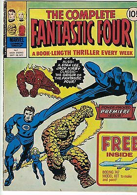 Marvel Comics Group The Complete FANTASTIC FOUR Comic No 1  28/09/1977