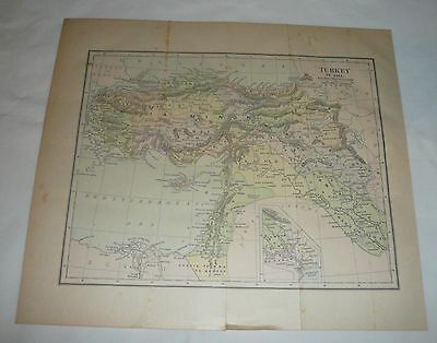 1884 map ~ TURKEY IN ASIA