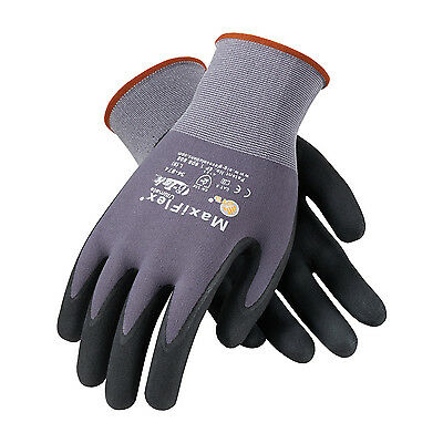 PIP 34-874/L MaxiFlex Ultimate Nitrile Micro-Foam Coated Gloves, Large, 3 Pair