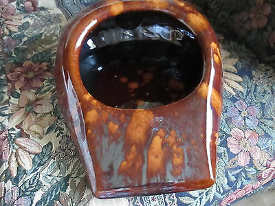 Vintage Bed Pan Urinal Commode Chamber Pot Speckled Ceramic Brown 15x11x5
