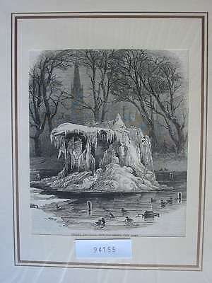 94155-Amerika-America-USA-United States-New York-T Holzstich-Wood engraving