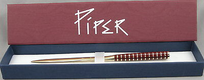 Piper by Ferrari da Varese Burgundy Banded & Gold Letter Opener - Germany - NEW