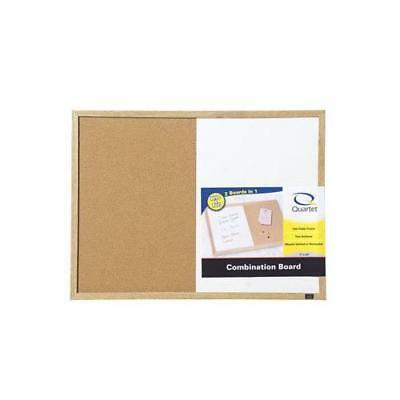 Quartet Dry Erase and Cork Combination Board, 17 x 23 Inches, Oak Finish Frame