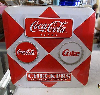 COCA-COLA Checkers Set Sealed 2003 Collector's Edition Game in Collectible Tin