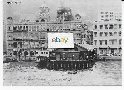 Star Ferry Hong Kong China 1958 2Nd Generation Terminal B/w Postcard