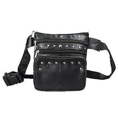 Leather Fanny Pack Black Leather Waist Bag By Bayfield Bags-Pouch Hip Bag New