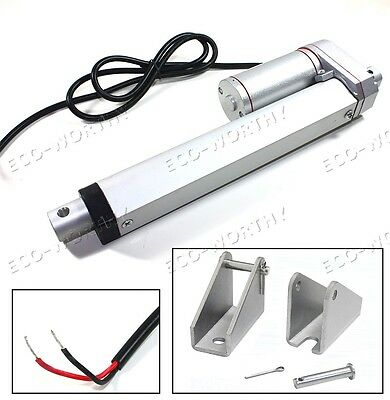 6'' 12V Linear Actuator Electric Motor Heavy Duty 330lbs/150kg Max Lift for Auto