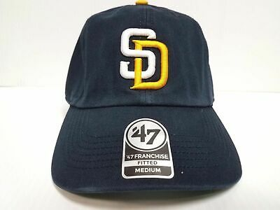 23dbcc8ef6004 San Diego Padres New Franchise  47 Brand Fitted Cap Unstructured Navy  Yellow Hat