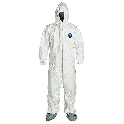 Box of 10 Dupont Tyvek TY122 Disposable Coveralls with Hood and Boots S, M & XL