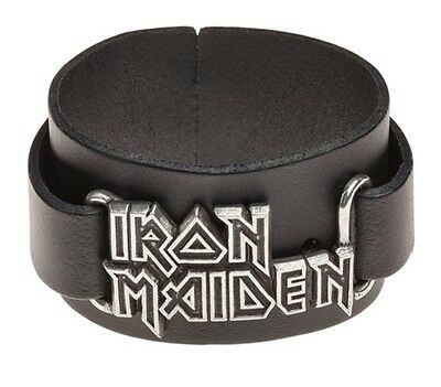 ALCHEMY ROCKS IRON MAIDEN Logo Leather Wriststrap OFFICIAL BAND MERCH Metal