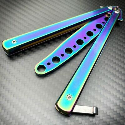 High Quality Practice BALISONG METAL BUTTERFLY BOTTLE OPENER Trainer Knife BLACK
