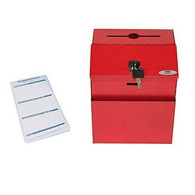 Adir Steel Suggestion Box with Lock- Donation Box - Collection Box - Charity New
