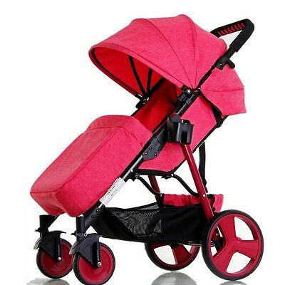 Hot Baby Stroller Stable Infant Carriage Pram Travel System Pushchair W/Footmuff