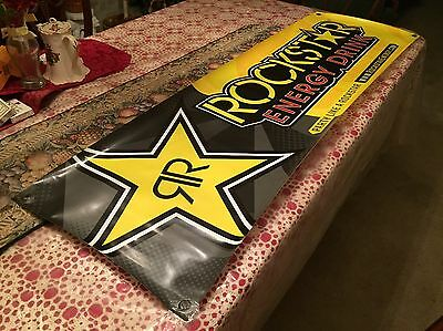 "Authentic Rockstar Energy Drink 60""x18"" Banner Graphic / Decals / Signs / Poster"