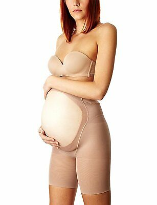NEW BOX Spanx 163 Power Mama Mid Thigh Maternity Shaper Nude Sz C *BEST SOLD*