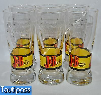 J & B WHISKY 6 Verres long drink écriture relief NEUF !!! RARE !!!