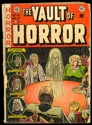 The Vault Of Horror #25 Ec Classic Johnny Craig Seance Cover 1952 Golden Age