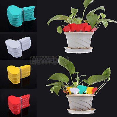 100X T-type Plastic Plant Seed Labels Pot Marker Garden Seed Stake Tags Reusable