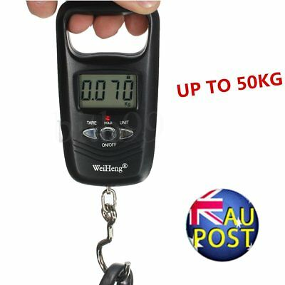 Portable LCD Electronic Hanging Fish Luggage Digital Hook Weight Scale 10g/50AU