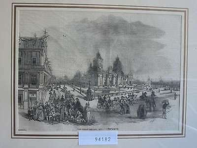 94182-Amerika-America-Mexiko-Mexico Great Square-T Holzstich-Wood engraving
