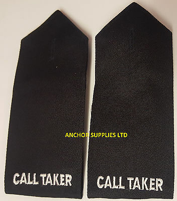 2 Sets x Call Taker Epaulettes Button On 2 Pairs Supplied (E16)