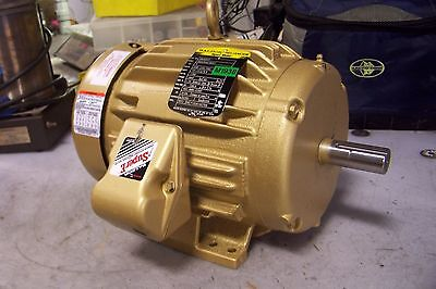 New Baldor 5 Hp Electric Ac Motor 208-230/460 Vac 1750 Rpm 184T Frame 3 Phase