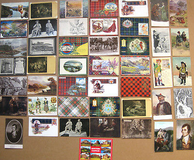SCOTLAND Job Lot of 46x Old Scotland Themed Postcards 1900-50s, Mostly Pre-1920s