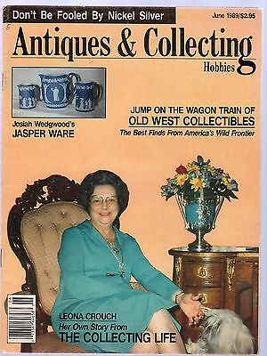 Antiques & Collecting Magazine / June, 1989 - Jasper Ware, Salts, Old West