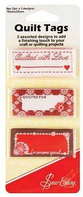 """Sew Easy Quilt Tags """"Quilters"""""""