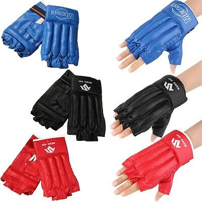 New Mitts Half-finger Fitness Boxing Gloves Punch Bag Training Equipment AU