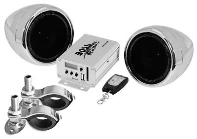 Boss Audio MC520B  600w Bluetooth Speakers+Amp Handlebar System Motorcycle/ATV