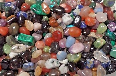BULK 1 LB IMPERFECT TUMBLED STONES Flaws Chips Cracks Crystal Mineral Gemstones