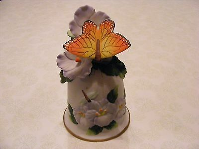 Beautiful Butterfly Collectible Bell Handpainted