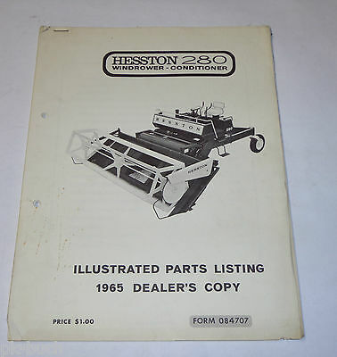 Teilekatalog / Parts List Schwader / Windrower Hesston 280, Stand 1965
