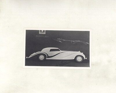 1937 Bentley 4 1/4 Litre de Villars Cabriolet ORIGINAL Photograph ww7109