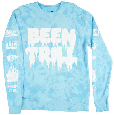 Been Trill Identify Crewneck Sweatshirt Pullover Mens Turquoise