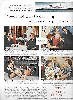 United States Lines 1961 S.s.united States Wonderful Way To Dress Up Trip Ad