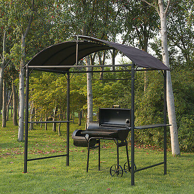 Metal Gazebo Marquee BBQ Tent Garden Patio Smoking Grill Canopy Awning Shelter