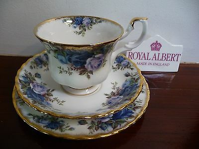 Royal Albert Vintage  'MOONLIGHT  ROSE' Tea Trio  Made in  England 1st Quality