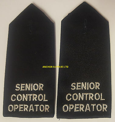 2 Sets x Senior Control Operator Epaulettes Button On 2 Pairs Supplied (E22)