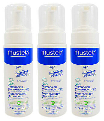 Mustela Foam Shampoo for Newborns 5.07 oz - Pack of 3