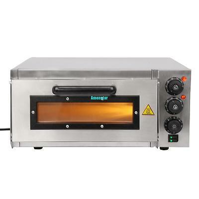 Kitchen Electric Pizza Oven single Deck CE Commercial Baking Fire Stone Catering