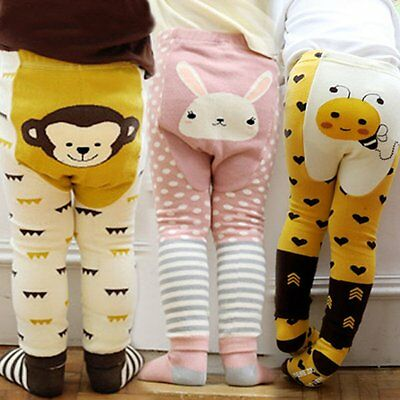 Toddler Baby Boys Girls Animal PP Pants Warmer Tight Leg Leggings+Socks Set 0-7Y