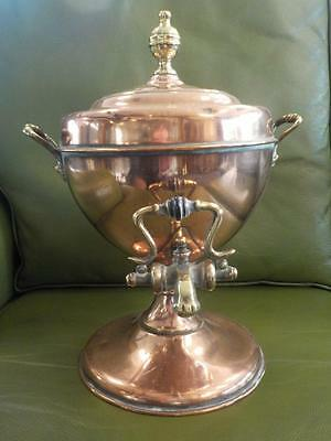Beautiful Vintage Copper & Brass Samovar With Ornate Tap & Handles