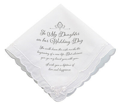 Daughter Wedding Hankie Great Wedding Day Gift For Your Daughter In Law