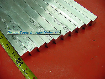 "25 Pieces 3/4""x 3/4"" ALUMINUM 6061 SQUARE FLAT BAR 12"" long T6511 New Mill Stock"