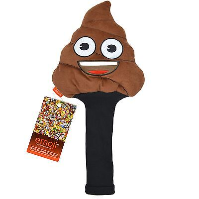 Funny Poop Emoji Novelty Golf Head Cover - Poo Gift For Bad Golfer Headcover Gag