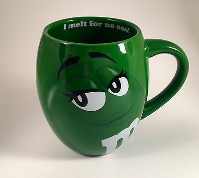 NEW M&M's Big Face Ceramic Coffee Tea Mug (Green)