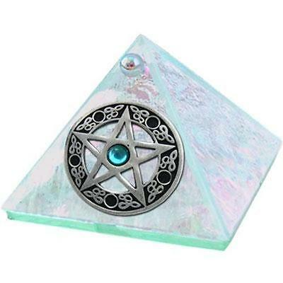 "2"" Clear Wishing/Charging Pyramid w/Pentacle Center!"